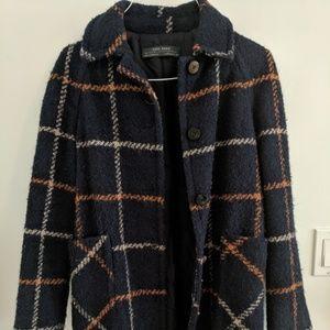 Zara Basic Wool Coat Size Small